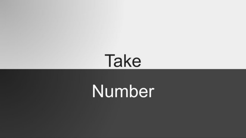 Take A Number on Safari on an iPhone. Oops!